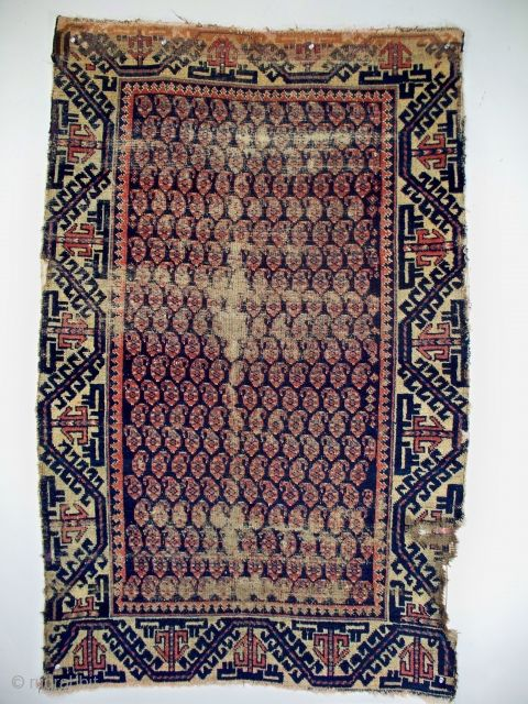 Battered Indeed Yet Still Possessing Many Of The Finest Qualities One Seeks In Baluch Tribal Weaving The Symmetrical Knotting Weaving Persia Bohemian Rug