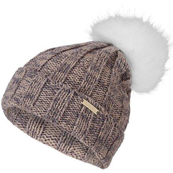 6bc1e6c1de9a2b Sweaty Betty Giant Bobble Beanie (745 ZAR) ❤ liked on Polyvore featuring  accessories, hats, stringmarl, bobble beanie, pompom hat, pom pom hats,  beanie ...