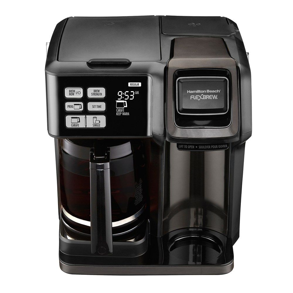 Hamilton Beach FlexBrew 2Way Black Stainless Coffee Maker