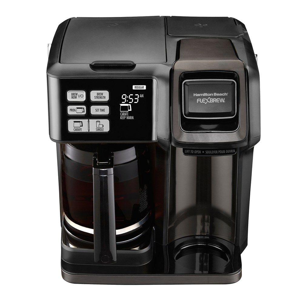 Hamilton beach flexbrew 2way black stainless coffee maker