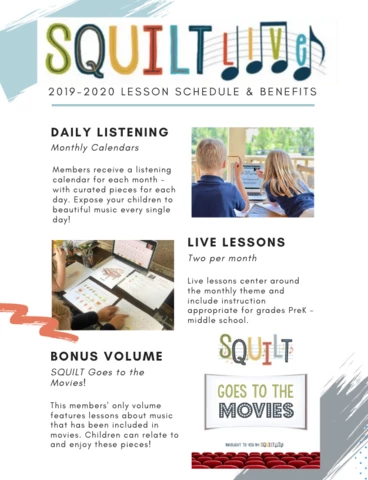 SQUILT LIVE! Squilt Music Appreciation (With images
