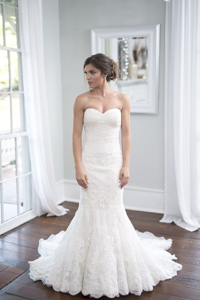 rent or buy this enzoani designer wedding dress sweetheart strapless neckline trumpet silhouette
