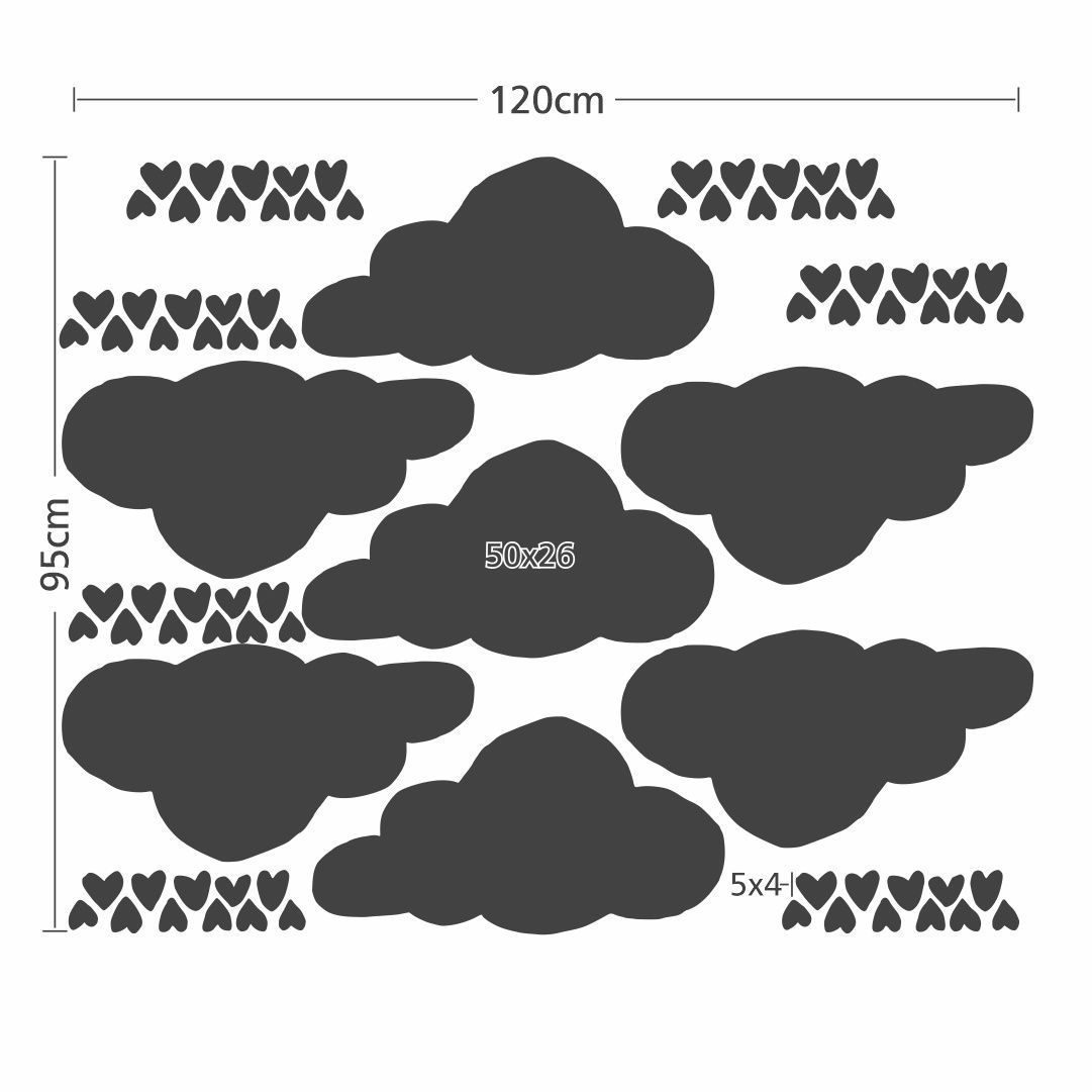 Stickers – Set of Love Clouds