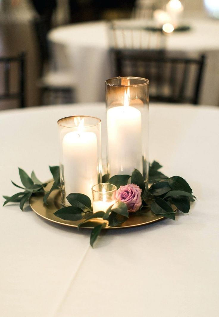 Diy Wedding Centerpieces Ideas On A Budget Cake Table Decoration Simple Centerpie Candle Wedding Centerpieces Simple Wedding Centerpieces Wedding Decor Elegant