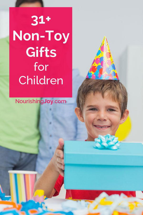 An essential list of fun, delightful gifts for children that AREN'T toys!