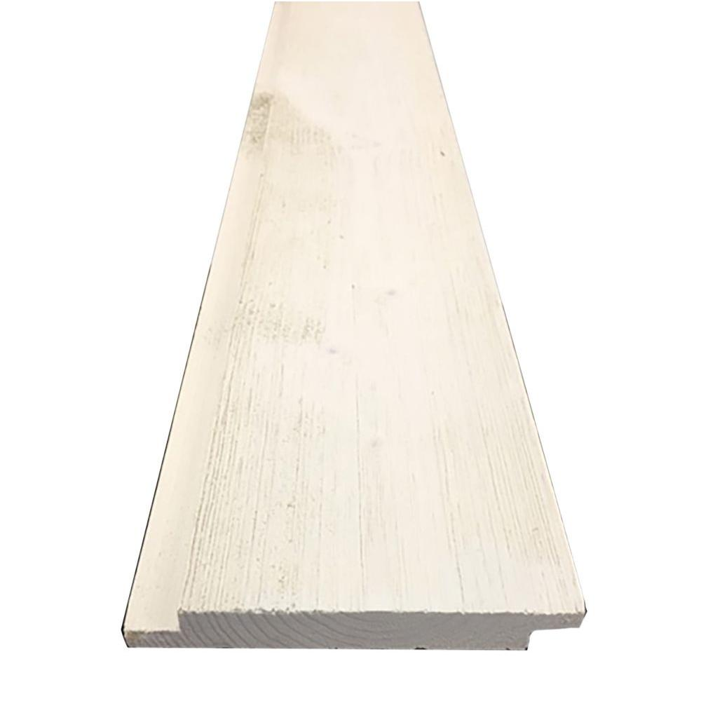 1 In X 6 In X 8 Ft Barn Wood Pre Finished White Shiplap 6 Pieces Per Box 0006489 The Home Depot White Shiplap Barn Wood Shiplap Boards