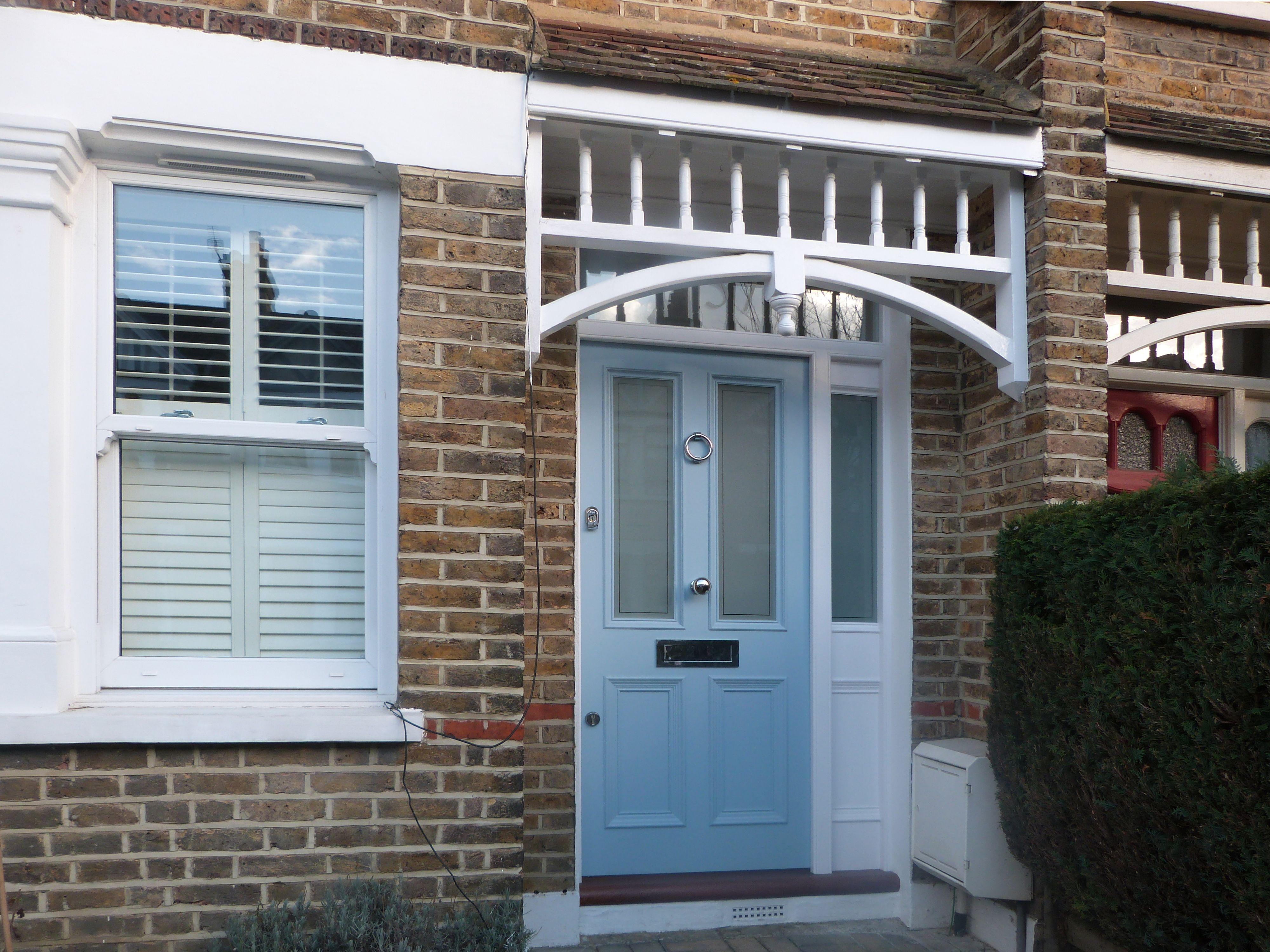 Beautiful pale blue Victorian front door in London   Victorian front ...