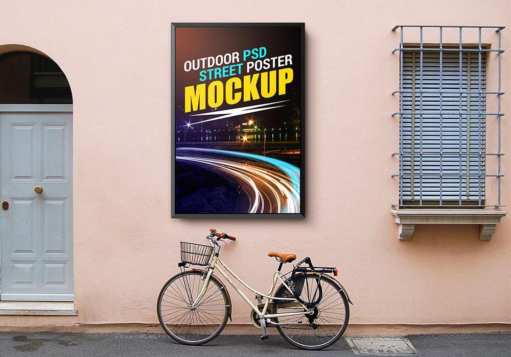 Outdoor Street Poster Mockup Graphicsfuel Poster Mockup Free Poster Mockup Poster On