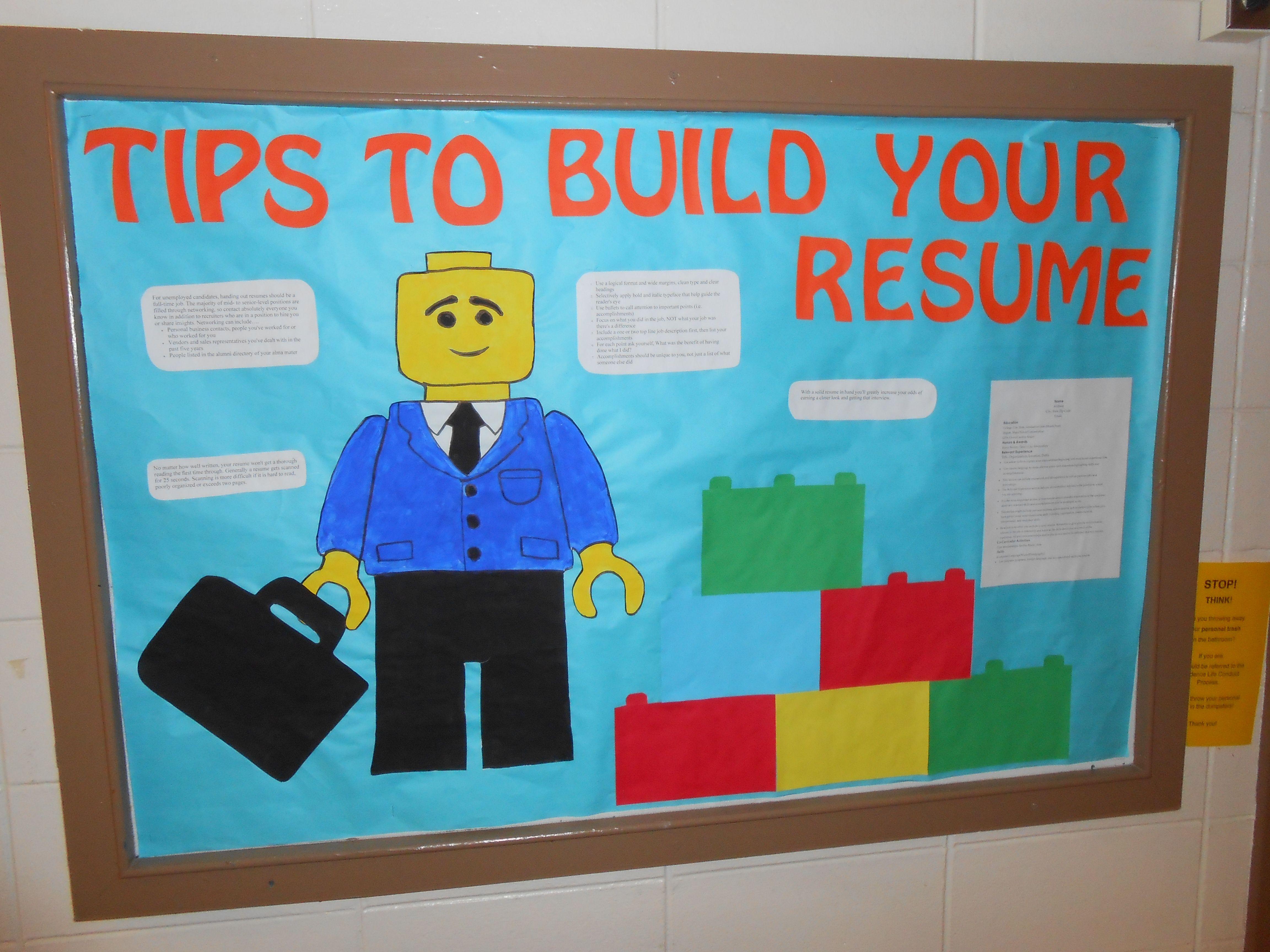 Ra Bulletin Board Lego Resume Builder Boards