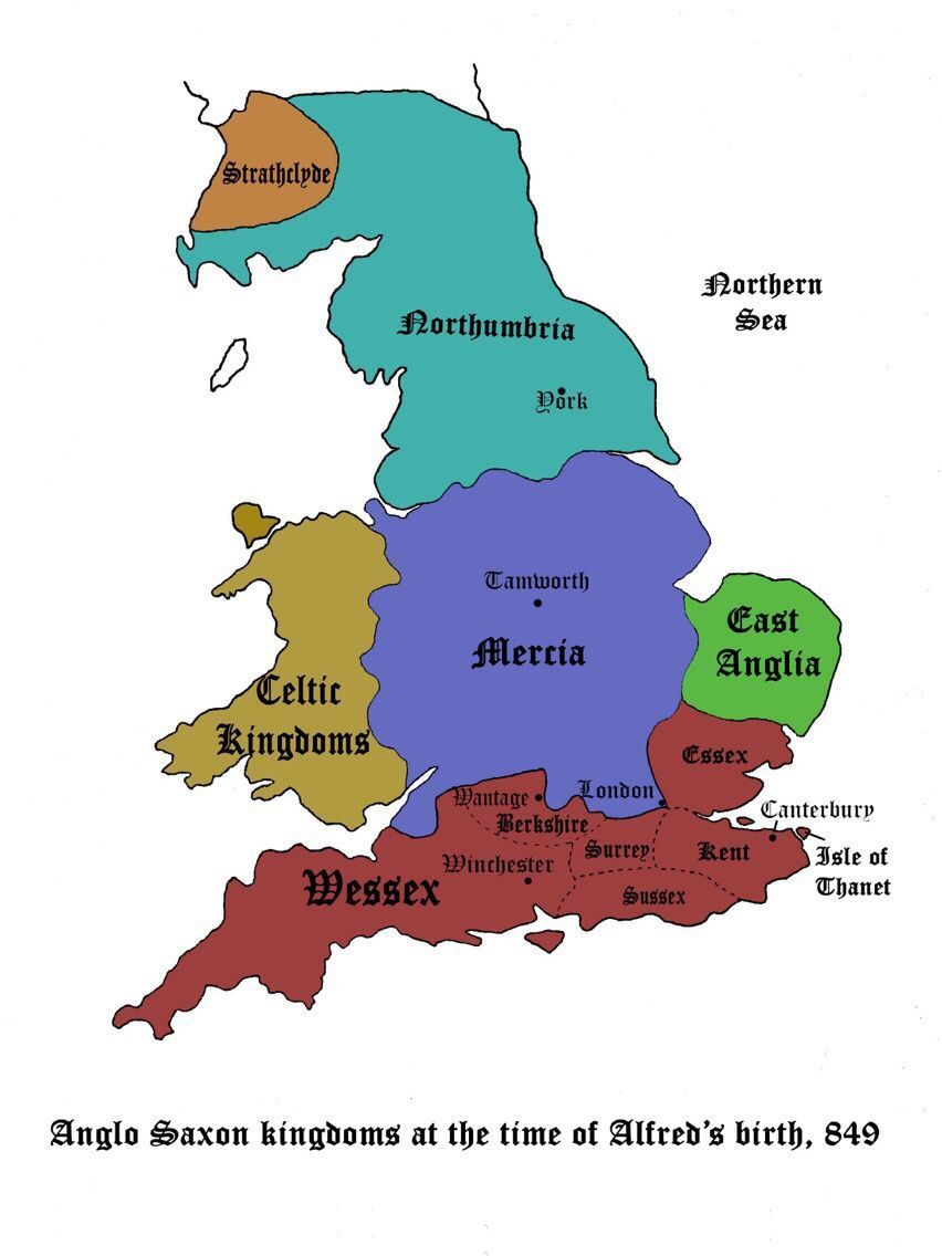 Map Of England The Last Kingdom.The Dark Ages Maps England Scotland Uk Anglo Saxon Kingdoms