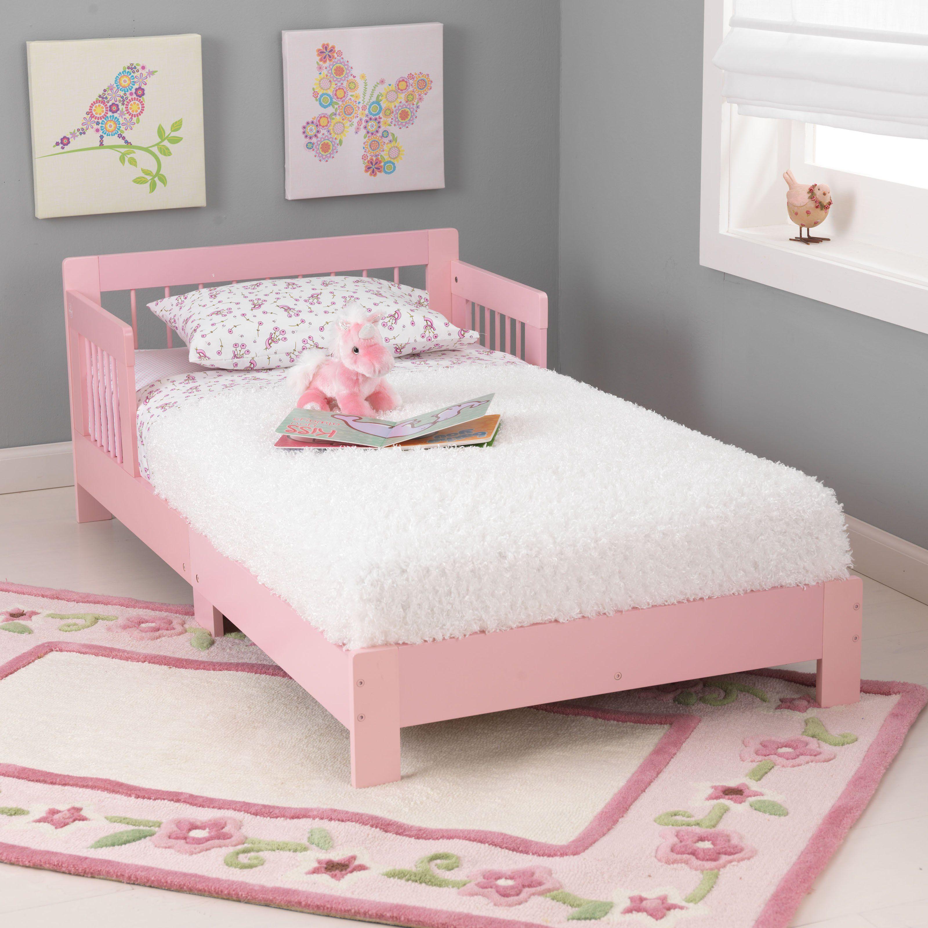 KidKraft Pink Houston Toddler Bed | from hayneedle.com