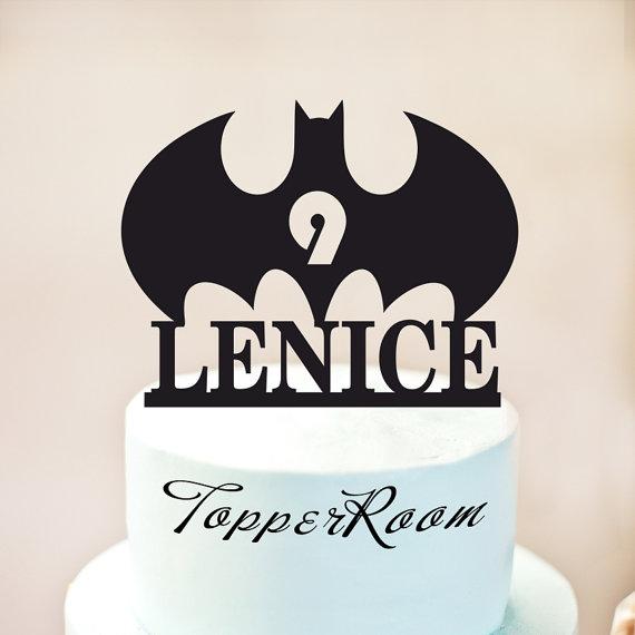 Batman Cake TopperBatman Birthday PartyBatman With Name Agecake Topper