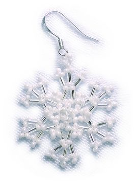 Lacy Snowflake Earrings Pattern at Sova-Enterprises.com lots of free beading patterns and tutorials are available!