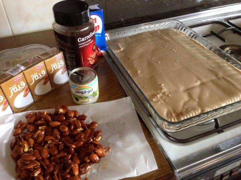 كيكة النسكافيه الباردة خطوة بخطوة مع الصور زاكي Arabic Dessert Cooking Recipes Yummy Food