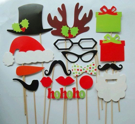 so funny christmas theme is coming 17pcs photobooth by partyyep