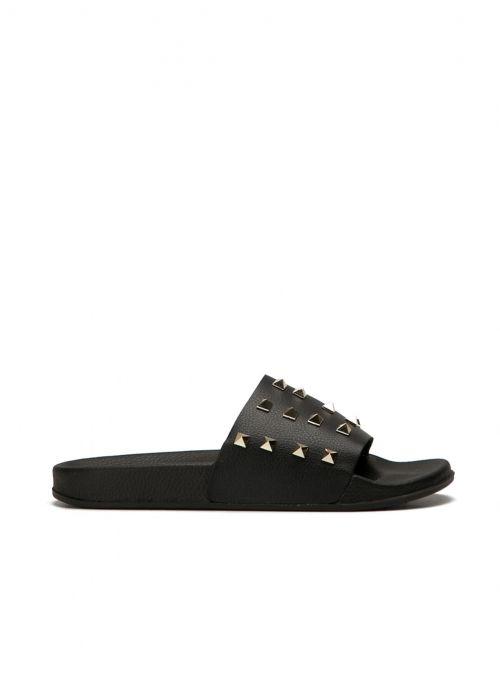 663bbe880b27 Sliders με Τρουκς-Μαύρο - ΓΥΝΑΙΚΕΙΑ ΠΑΠΟΥΤΣΙΑ - LUIGI FOOTWEAR ...