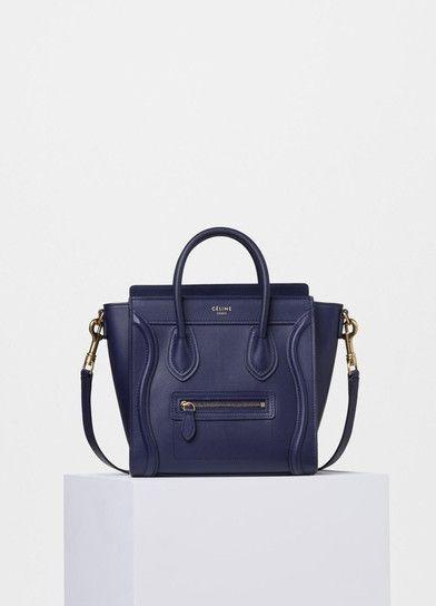 3208b94f6 Nano Luggage Handbag in Smooth Calfskin - Céline   2016 Winter ...