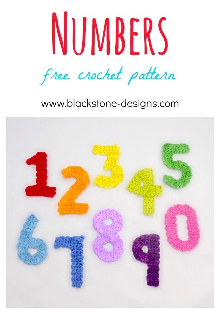 Numbers free crochet pattern from Blackstone Designs #crochet ...