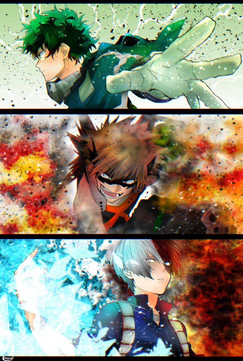 Deku Bakugou And Todoroki My Hero Academia Mha Bnha Hero Anime Plusultra My Hero Academia Episodes My Hero My Hero Academia