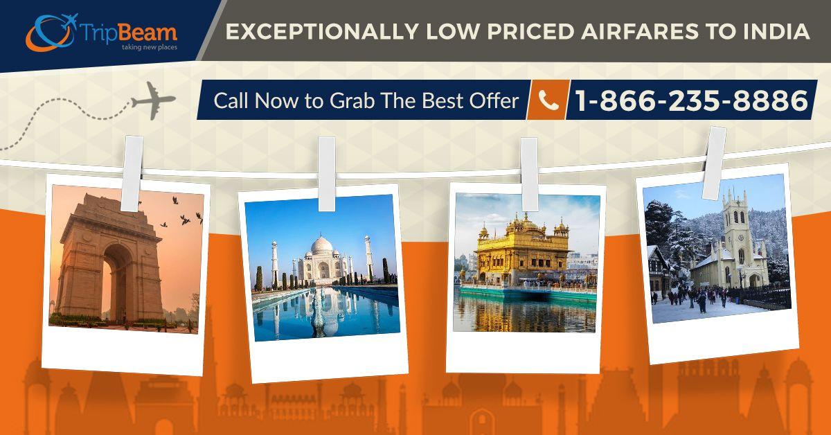 Enjoy cheap #flighttickets to India with amazing travel #deals and offers at #Tripbeam. Contact us to get the best travel deal today!   For more information: Contact us at: 1-866-235-8886 (Toll-Free).  #bestdeals #cheapflightstoindia #traveldeals #cheapflights #traveling #vacation #deals #airfare #flights #travel #India #IncredibleIndia #usa #usatoindia #Indian #Travellers #Traveloffers #usatoIndiaflightdeals #Destinations #cheapflightbooking