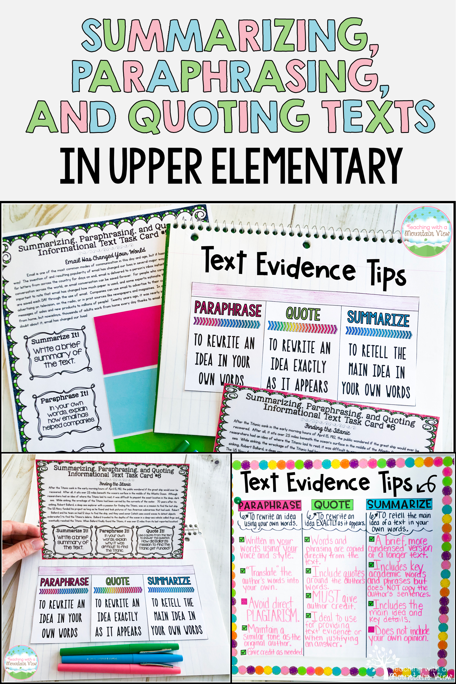 Using Informational Non Fiction Text I A Great Way To Teach Student How Correctly Summarize Paraphra Teaching Summarizing Quoting Writing Lessons Literacy Standard Paraphrasing