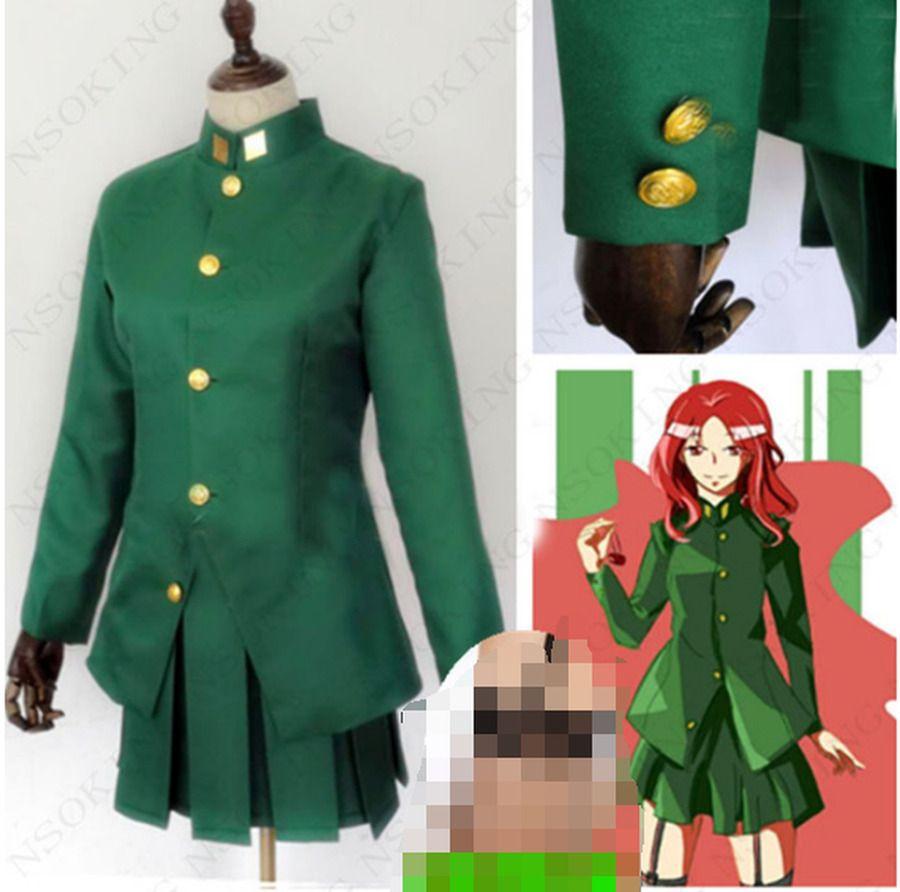 JoJo/'s Bizarre Adventure 3 Noriaki Kakyoin Uniform Cosplay Costume Halloween