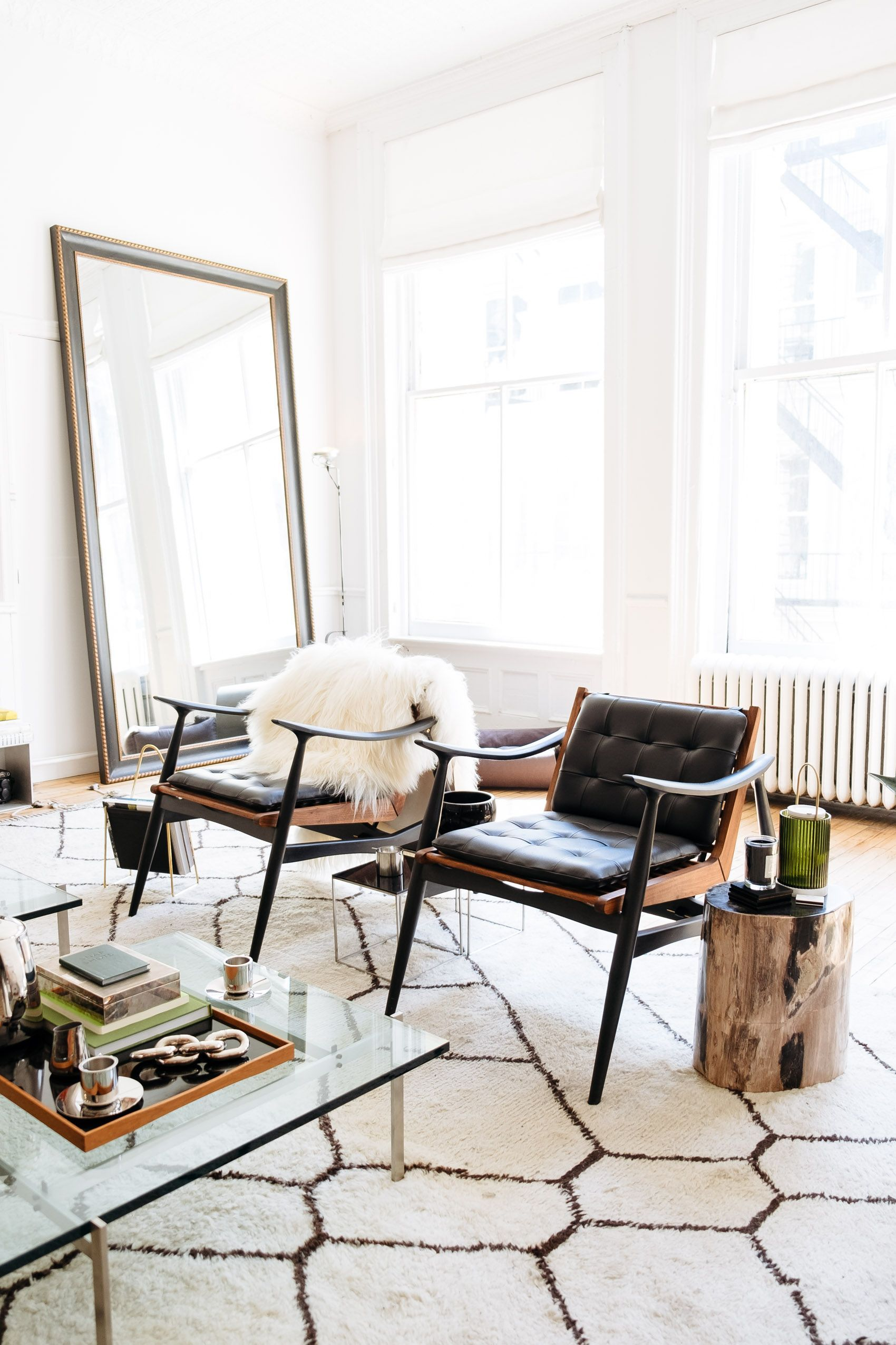 Captivating Bright Living Room With Chic Interior Decor At The Apartment By The Line In  Soho New