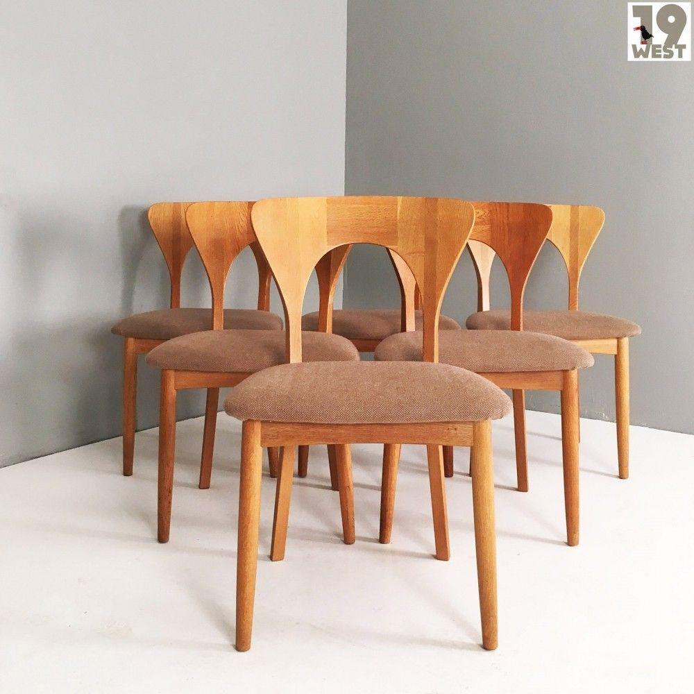 set of six danish oak dining chairs by kofoeds hornslet denmark rh pinterest com