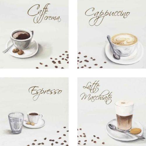 Bilder-Leinwand-Bild-Kunstdruck-Artland-4er-Set-Getraenke-Kaffee - wandbilder für küche