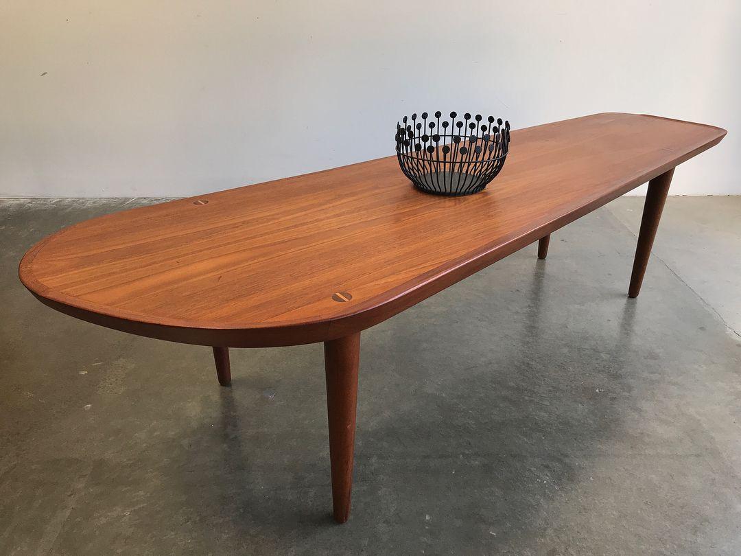 705 Likes 11 Comments Post War Modern Post War Modern On Instagram Asymmetrical Surfboard Mid Century Coffee Table Coffee Table Surfboard Coffee Table