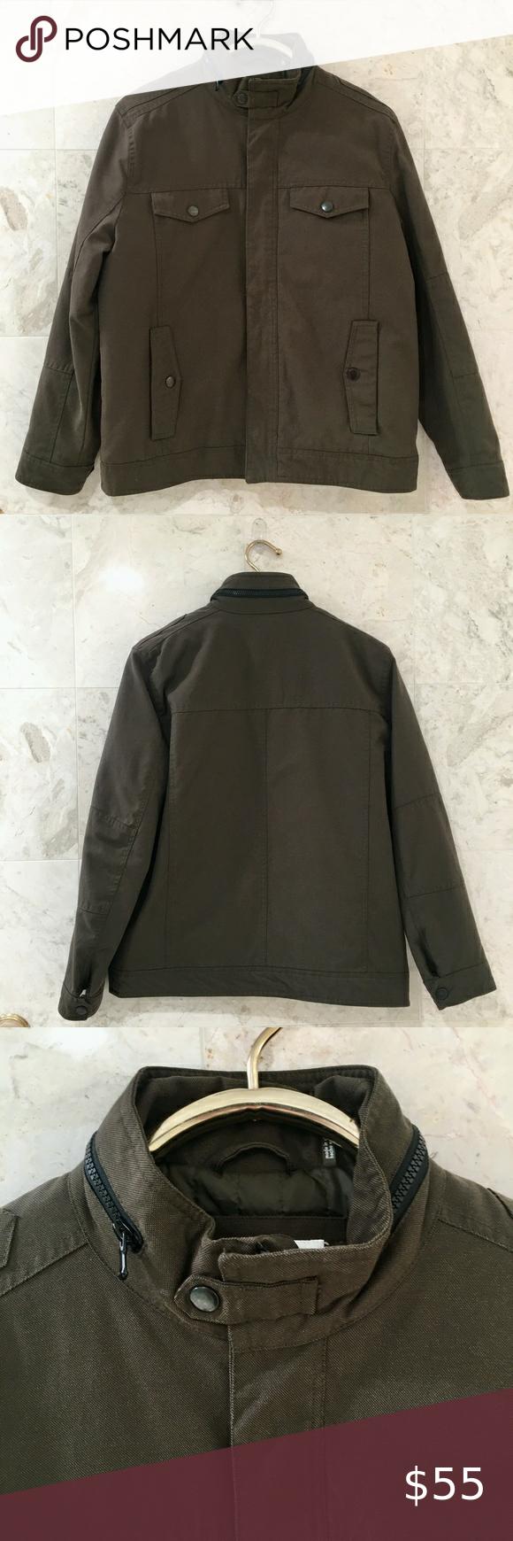 Kenneth Cole M Canvas Bomber Jacket Olive Green Leather Bomber Jacket Brown Leather Jacket Wool Bomber Jacket [ 1740 x 580 Pixel ]