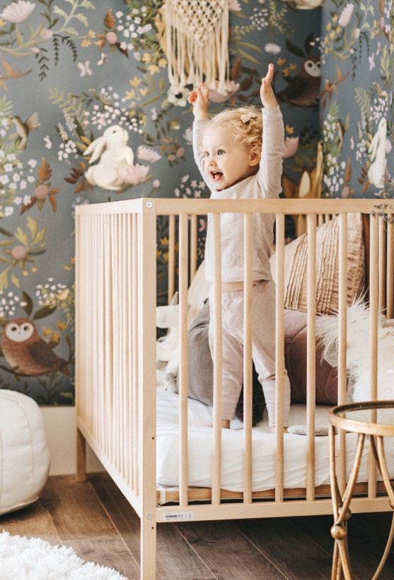 woodland animals wallpaper mural anewalldecor on etsy