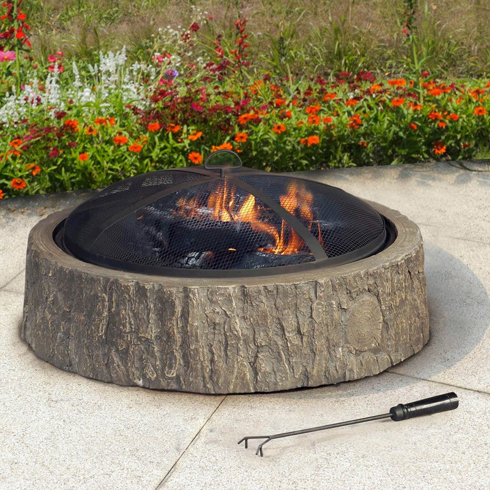 Do it yourself firepit. You buy the bricks from Lowes