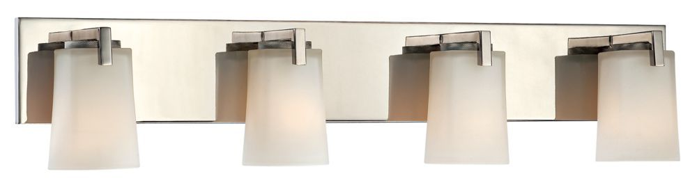 Wellman Polished Nickel Vanity Fixture - 4 Light | Our Home: Elegant ...