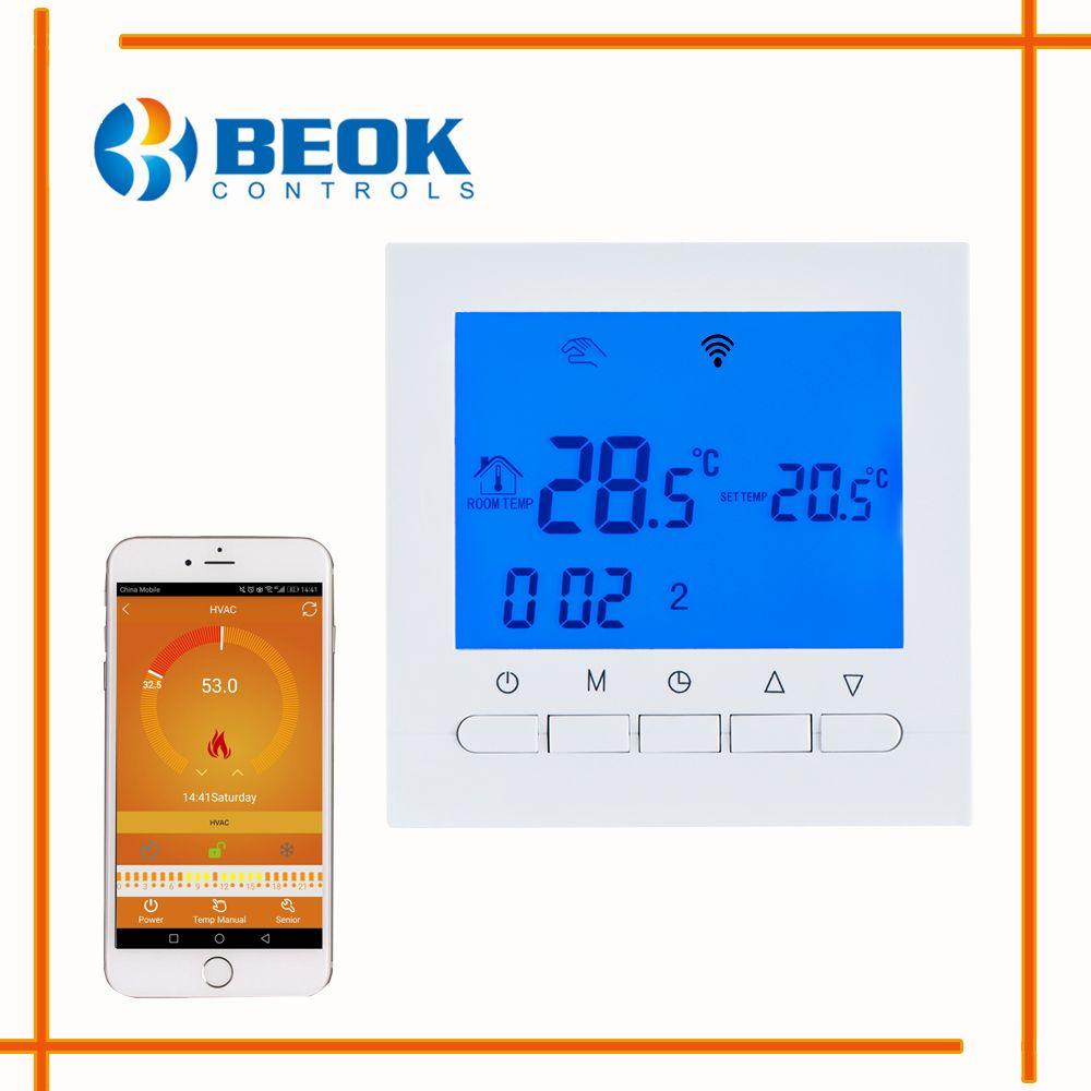 BEOK BOT-313 WIFI Gaskessel Heizung Thermostat Blau Licht ...