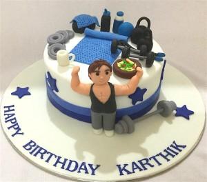 Fitness & Gym Theme Cakes Online l Birthday Cakes l