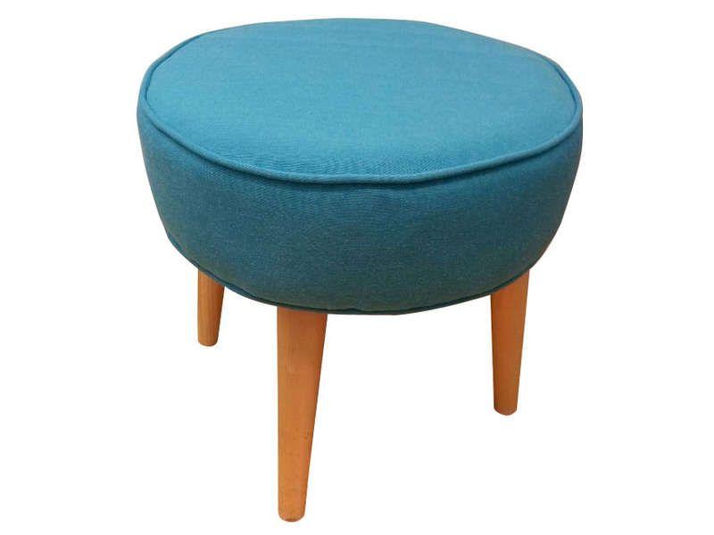 pouf 35x35x35 cm bergen coloris bleu vente de pouf poire et coussin de sol conforama. Black Bedroom Furniture Sets. Home Design Ideas