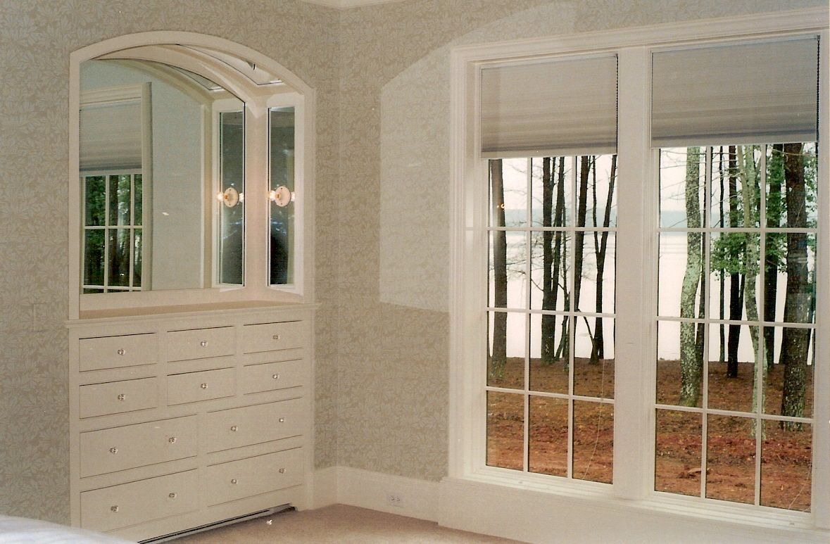 Custom recessed built in casework created by rolling hills millwork
