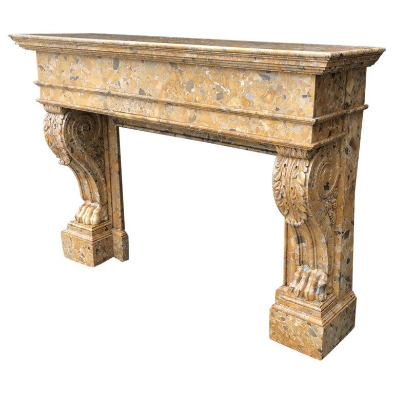 1stdibs Marble Breche Dalep 19Th Century French Fireplace / Mantel