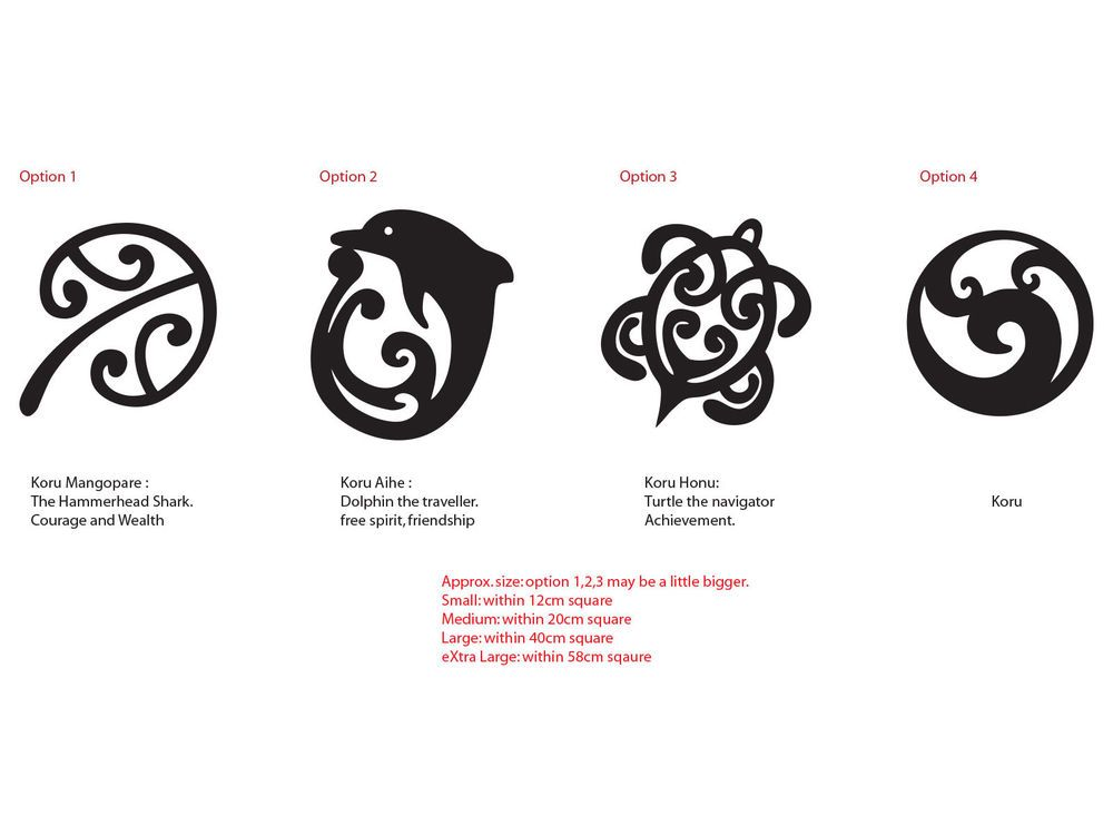 Maori Koru Mangopare Honu Aihe Nz Kiwi Symbol Car Tattoo