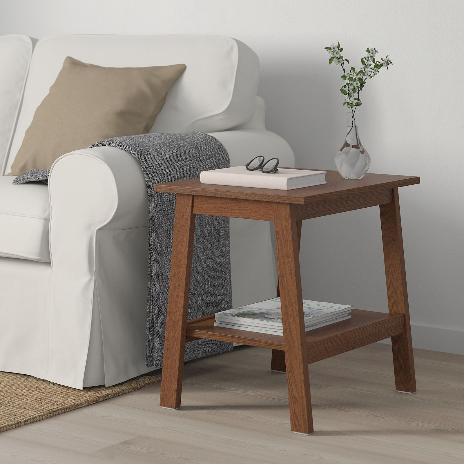 Lunnarp Side Table Brown 21 5 8x17 3 4 Ikea In 2020 Living Room Side Table Ikea Side Table Wooden Side Table #wood #side #tables #for #living #room