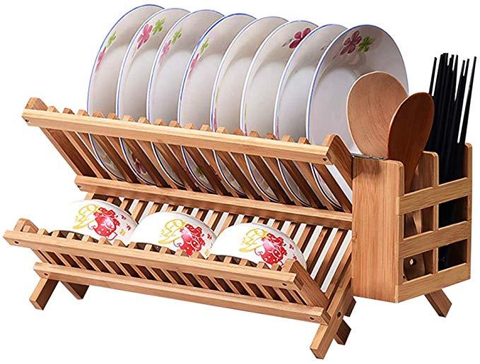 eosaga bamboo dish rack bamboo folding