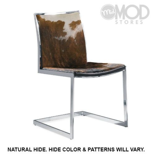 Exceptionnel Our Cowhide Modern Dining Chair Is Truly A One Of Kind Piece.