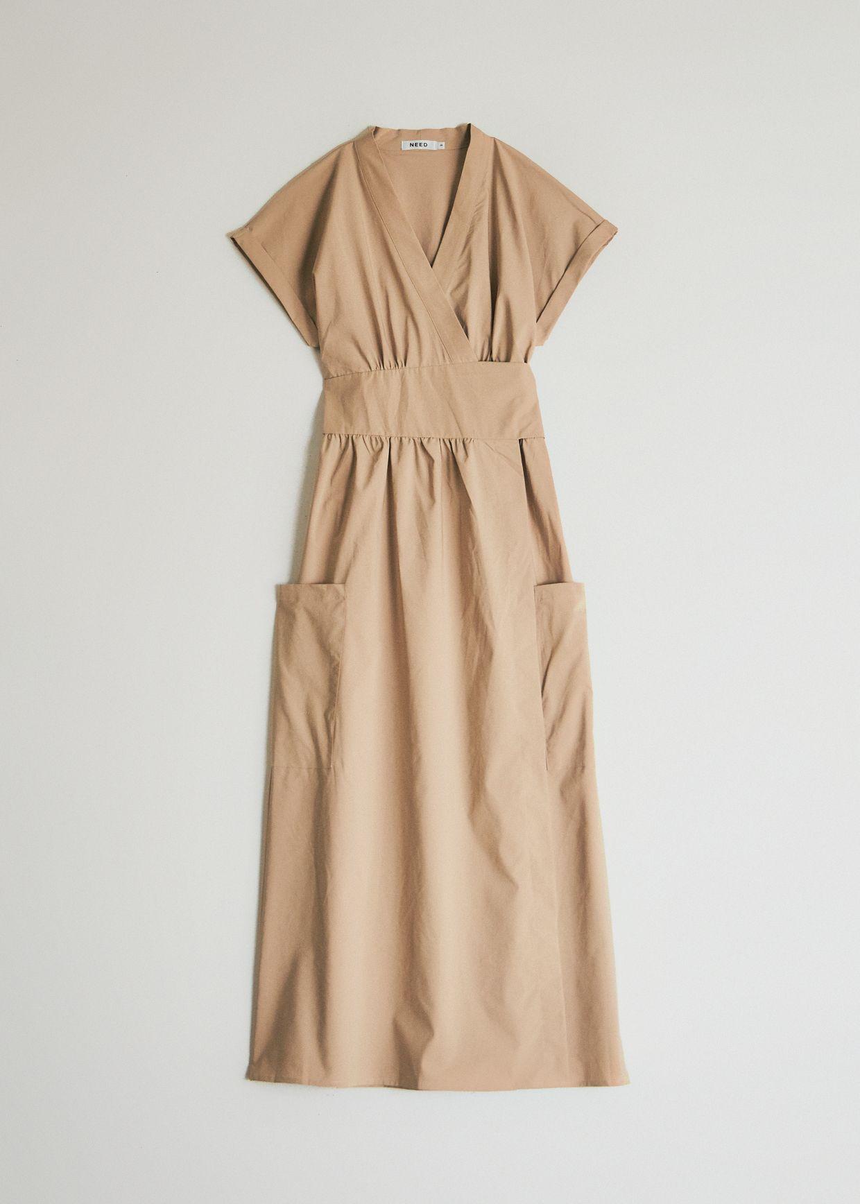 Need Garcia Wrap Dress In Tan Wrap Dress Dresses Clothes Design [ 1736 x 1240 Pixel ]