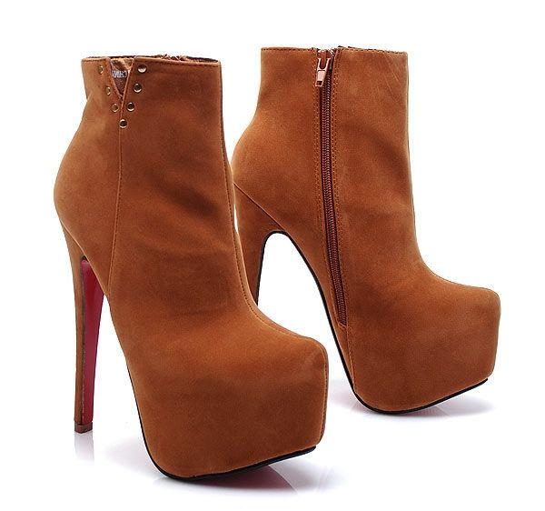 Rozprávkové hnedé členkové topánky