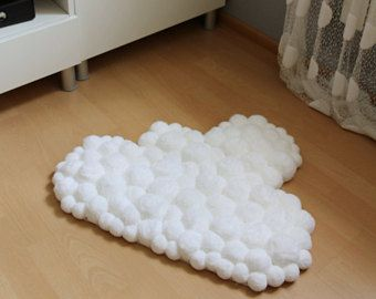 Cloud Rug Pom Pompom Nursery Baby Room Decoration Soft Fluffy Carpet Washable Handmade