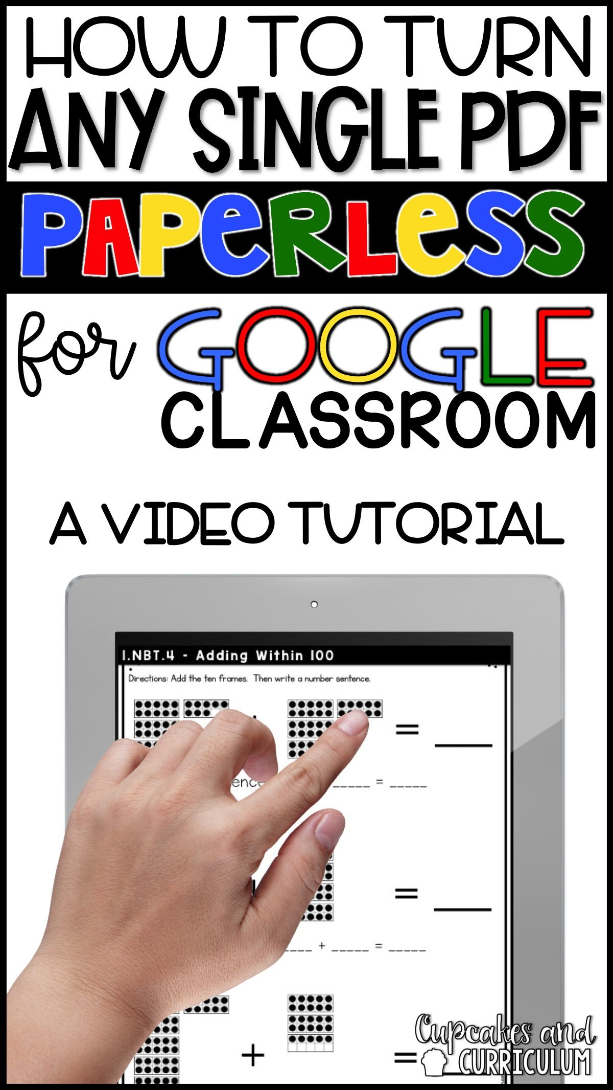 How To Turn Any Worksheet Paperless For Classroom