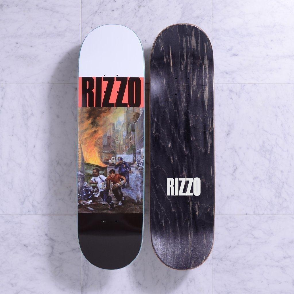 Quasi Dick Rizzo Run Deck (8 25) - red | Skate Hardgoods