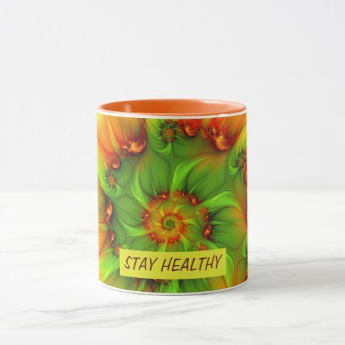 Psychedelic Colorful Modern Abstract Fractal Art Mug  how to decorate, she shed decor, bench decor #homedecorinspiration #homedecorshop #homedecoridea
