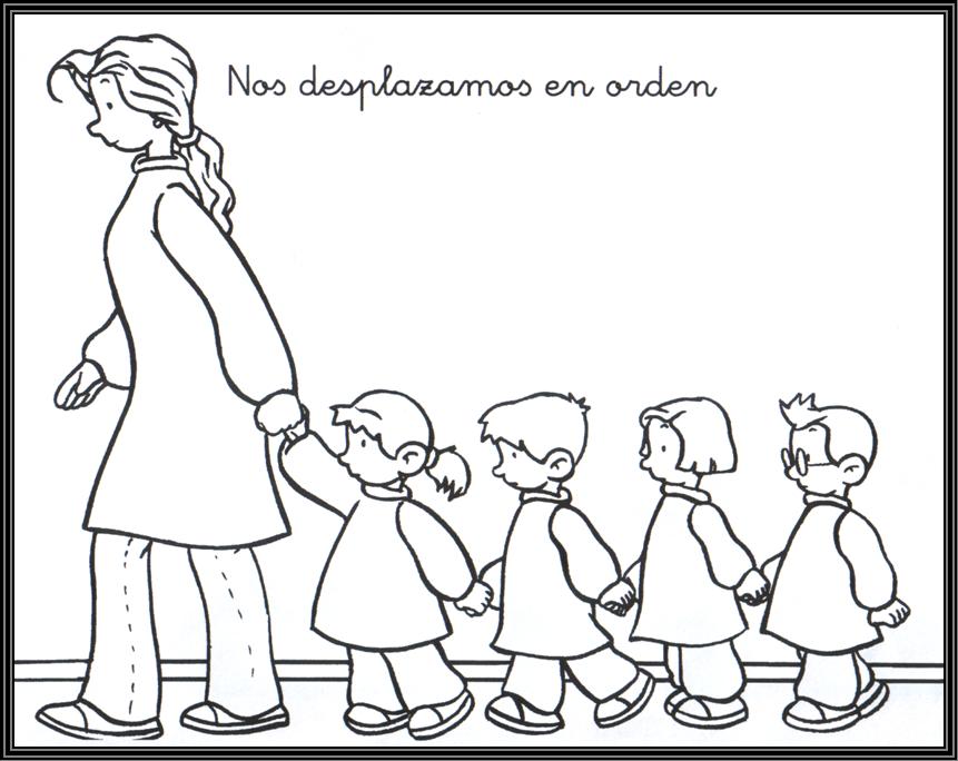 Imágenes de Niños en fila para colorear e Imprimir | Para niños ...
